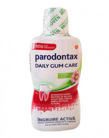 Apa de gura Daily gum care Herbal Twist, 500ml, Parodontax