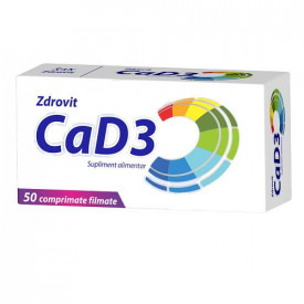 Calciu D3, 50cps, Zdrovit