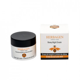 Crema de noapte cu miere BIO de albine, 50g, Herbagen