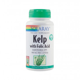 Kelp with Folic Acid 550mg, 100cps, Solaray