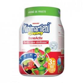 Minimartieni Gummy BoneActiv(aroma de fructe), 60 jeleuri gumate, Walmark