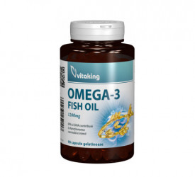 Omega 3 Forte - ulei de peste natural 1200mg, 90cps, Vitaking