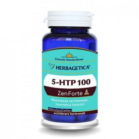 5-HTP 100 Zen Forte, 60cps, Herbagetica