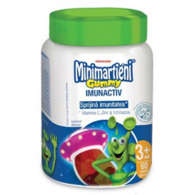 Minimartieni Gummy ImunActiv(aroma de fructe),60 jeleuri gumate, Walmark