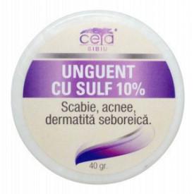Unguent cu Sulf 10%, 40g, Ceta Sibiu