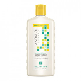 Sunflower & Citrus Brilliant Shine Conditioner, 340ml, Andalou