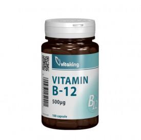 Vitamina B12(cianocobalamina) 500 mcg, 100cps, Vitaking