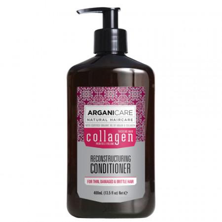 Balsam reparator cu colagen pentru par subtire, deteriorat si fragil, Arganicare, 400 ml