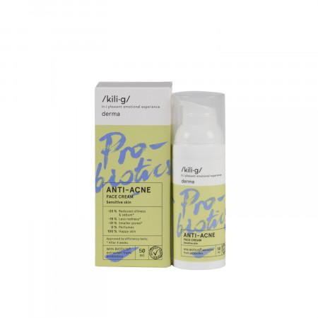 Crema de fata cu probiotice pentru ten sensibil si acneic, KILIG DERMA, 50 ml