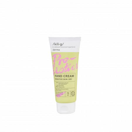 Crema de maini cu probiotice pentru piele sensibila, KILIG DERMA, 75 ml
