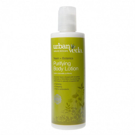 Lotiune de corp revitalizanta cu ulei de neem organic, Purifying - Urban Veda, 250 ml