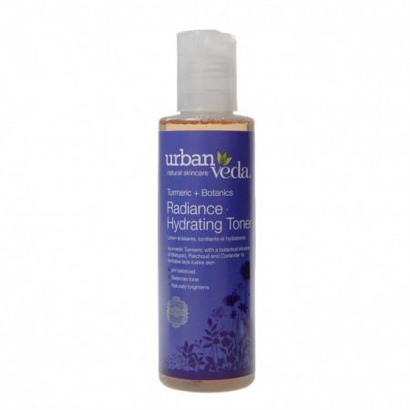 Lotiune tonica hidratanta cu extract de turmeric organic - ten uscat, Radiance - Urban Veda, 150 ml