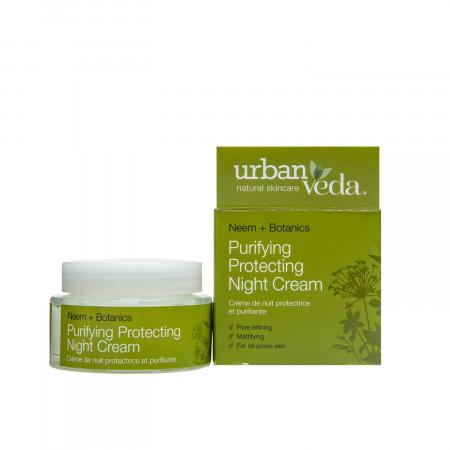 Crema de noapte protectiva cu ulei de neem- pentru ten gras, Purifying - Urban Veda, 50 ml