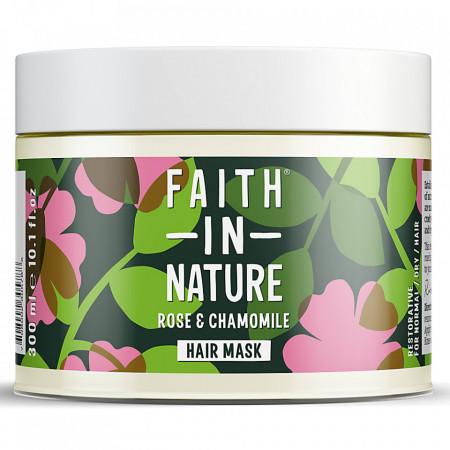 Masca naturala reparatoare trandafir salbatic si musetel, pentru toate tipurile de par, Faith in Nature, 300ml