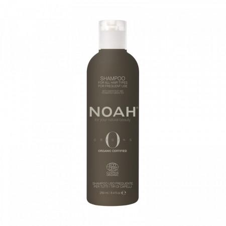 Sampon BIO cu ulei de Marula pentru uz frecvent pentru toate tipurile de par, Noah, 250 ml