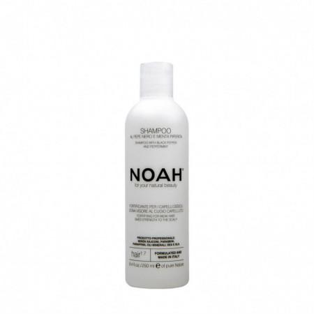 Sampon fortifiant cu piper negru si menta pentru par slabit si deteriorat (1.7), Noah, 250 ml