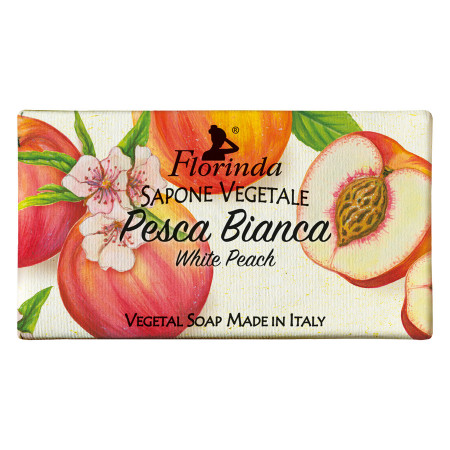 Sapun vegetal cu piersici albe Florinda, La Dispensa, 100g