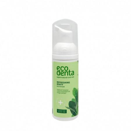 Spuma de gura, cu efect racoritor cu ulei de menta si betaina naturala, Ecodenta, 50ml