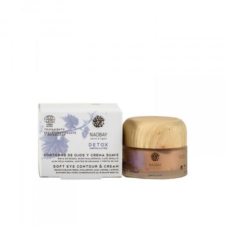Crema soft & contur de ochi Detox, Naobay, 30ml