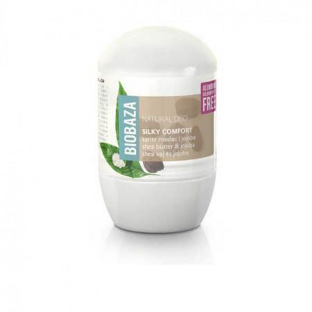 Deodorant natural pe baza de piatra de alaun pentru femei SILKY COMFORT (shea si jojoba), Biobaza, 50 ml