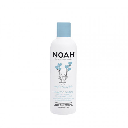 Sampon cu lapte & zahar pentru spalare frecventa pentru copii, Noah, 250 ml