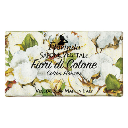 Sapun vegetal cu flori de bumbac Florinda, 100 g La Dispensa