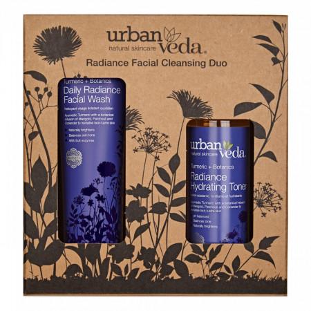 Set cadou Radiance Facial Cleansing Duo, Urban Veda