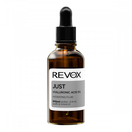 Ser hidratant JUST hyaluronic acid 5% hydrating fluid, Revox, 30ml