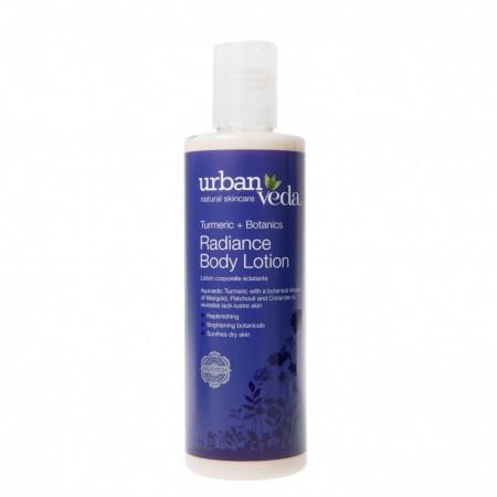 Lotiune de corp hidratanta cu extract de turmeric organic, Radiance - Urban Veda, 250 ml