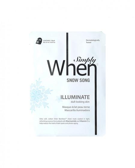 Masca coreana pentru luminozitate cu vitamina C, Snow Song, 23 ml, Simply When