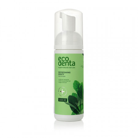 Spuma de gura, cu efect racoritor cu ulei de menta si betaina naturala, Ecodenta, 150ml