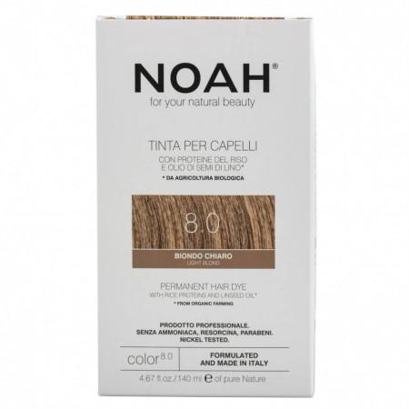 Vopsea de par naturala, Blond deschis,8.0, Noah, 140 ml