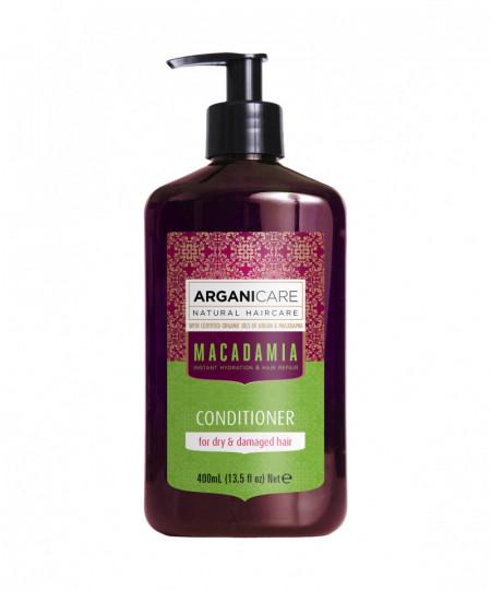 Balsam ultra hranitor cu ulei de macadamia pentru par uscat si deteriorat, Arganicare, 400 ml
