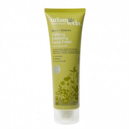 Exfoliant pentru curatare faciala cu extract de neem organic - ten gras, Purifying - Urban Veda, 125 ml