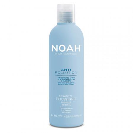 Sampon detoxifiant cu moringa si aloe vera - Anti Pollution, Noah, 250 ml