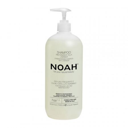 Sampon natural fortifiant cu lavanda pentru uz frecvent si scalp sensibil (1.3), Noah, 1000 ml