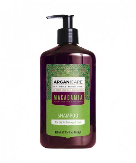 Sampon revitalizant cu ulei de macadamia pentru par uscat si deteriorat, Arganicare, 400 ml