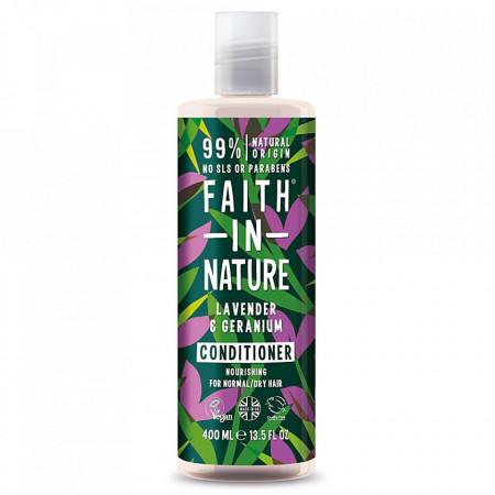 Balsam natural nutritiv cu Lavanda si muscata pentru par normal si uscat, Faith in Nature, 400ml