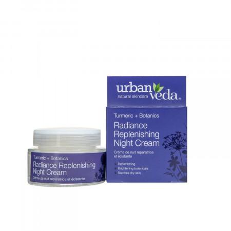 Crema puternic hidratanta de noapte cu extract de turmeric - ten uscat, Radiance - Urban Veda, 50 ml