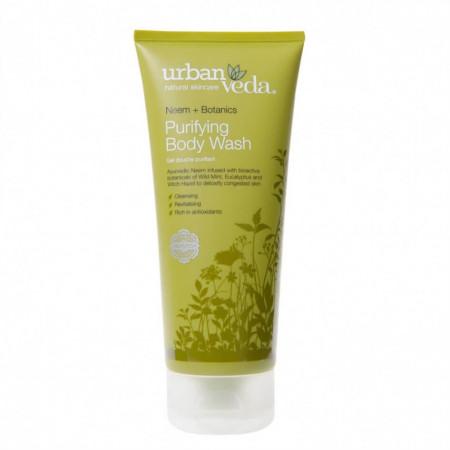 Gel de dus cu ulei de neem organic, Purifying - Urban Veda, 200 ml