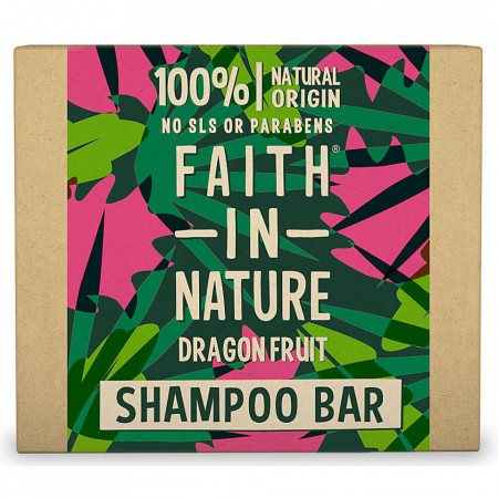 Sampon natural solid fortifiant, cu fructul dragonului, pentru par deteriorat, vopsit, Faith in Nature, 85 gr