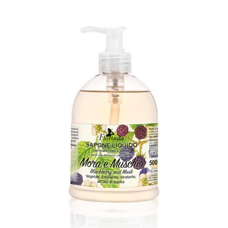 Sapun lichid vegetal hidratant cu mure si mosc si ulei de Jojoba, Florinda, 500 ml La Dispensa