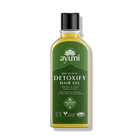 Ulei detoxifiant pentru par gras si scalp iritat, AYUMI, 150 ml