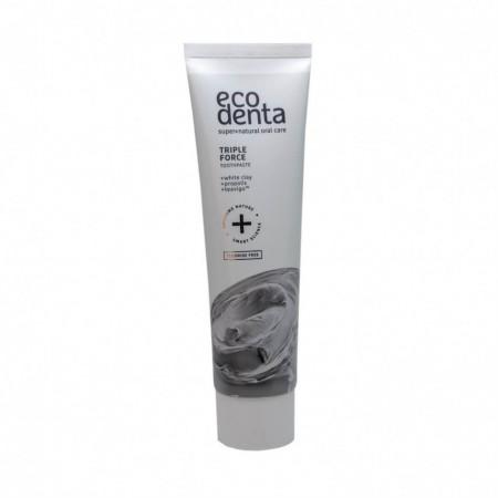Pasta de dinti cu efect triplu pentru dinti sensibili, Extra, Ecodenta, 100ml