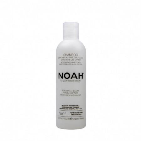 Sampon natural hidratant cu fenicul pentru par uscat, fragil si lipsit de stralucire (1.2), Noah, 250 ml