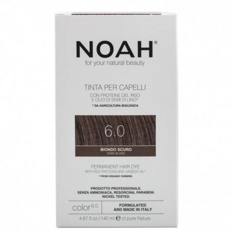 Vopsea de par naturala, Blond inchis, 6.0,Noah, 140 ml