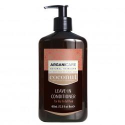 Balsam fara clatire cu ulei de cocos pentru par fara stralucire si foarte uscat, Arganicare, 400 ml
