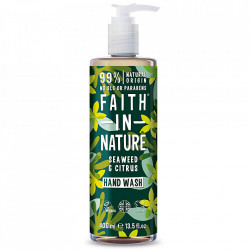 Sapun lichid natural cu alge marine si citrice, Faith in Nature, 400 ml