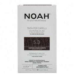 Vopsea de par naturala, Saten auriu deschis, 5.3, Noah, 140 ml