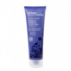 Exfoliant pentru curatare faciala cu extract de turmeric organic - ten uscat, Radiance - Urban Veda, 125 ml